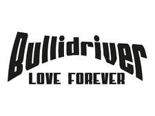1 x 2 Plott Aufkleber Bullidriver Love Forever VW Bus T2 T3 T4 T5 Sticker Tuning