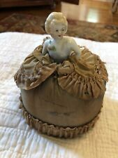 Vintage Half Doll Pincushion Open Arms