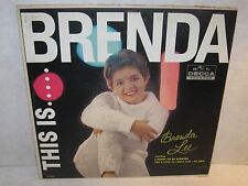This Is Brenda. Brenda Lee LP Record DL 4082