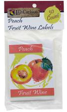 Peach Fruit Wine Labels