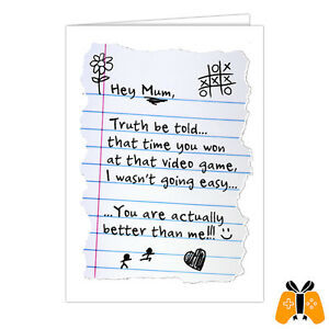 MOTHER'S DAY CARD 002 - greeting gaming retro gamer nintendo playstation xbox pc