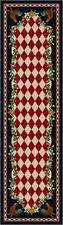 High Country Rooster Natural Classic Country Cottage Rug 2x8 Runner