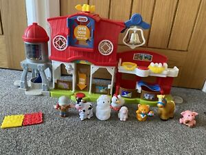 Fisher Price Little People Caring For Animals Farm Toy Play Set Barn Pig Cow