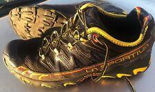 La Sportiva Ultra Raptor Trail Running  Men's Black/Yellow, SIZE 10.5