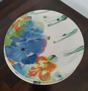 Janice Tchalenko pottery Iris dinner plates x 4.
