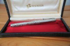 Rare Sheaffer Sterling Silver Nostalgia Ballpoint Pen Etched Floral Pattern