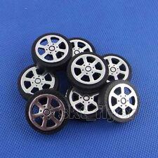 8pcs 30*9*2mm Plastic Car Tire Toy Wheels Model Robot Part DIY Rims RC
