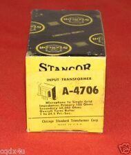 Mic Input Transformer Stancor MC SUT A-4706 100/60000 1:24 NOS