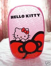 NEW Kitty Cat Foldable Clothes Laundry Basket Storage Bag Pink