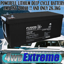 HOUSEBOAT DEEP CYCLE 12VOLT 200AH LITHIUM BATTERY SOLAR CAMPER TRAILER CARAVAN