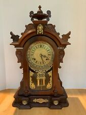 New Listing1980's Reproduction of an Antique Parlor/Kitchen/Mantel Clock Dark Gingerbread