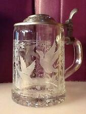 Made in West-Germany ALWE Glass Stein Birds 95% Zinn Water Fowl Ducks