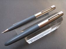 Parker 41 Grey Fountain Pen and Liquid Lead Pencil Set ~ Near Mint!! (S-026)
