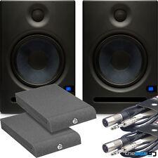 Presonus Eris E5 Active Studio Monitors x2 + Isolation Pads & Leads Bundle