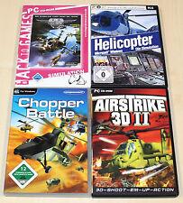 PC SPIELE SAMMLUNG HELICOPTER HUBSCHRAUBER SIMULATOR FAIR STRIKE CHOPPER BATTLE