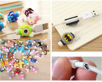 HOT 10pcs MIX Protector Saver Cover For Apple iPhone 8 X USB Charger Cable Cord