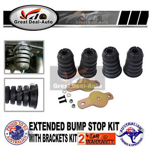 Extended Bump stop kit front and rear with Brackets For Nissan Patrol GQ GU