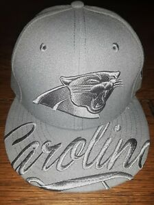 CAROLINA PANTHERS FITTED HAT CAP MEN JERSEY LOGO PE M MED L LRG 7 1/8 7 1/4 NFL.