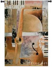 "Jazz Medley II Music Tapestry Wall Hanging Modern Design 53""x36"""