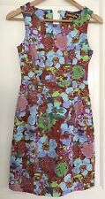 PRINCESS HIGHWAY WOMENS DRESS FLORAL PRINT LINED STRAIGHT SLEEVELESS SZ 8