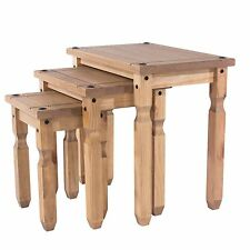 Quality 3 Nest of Tables Living Room Corona Mexican PIne Furniture