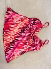 Miraclesuit 8 Tankini Swimsuit Top Pink Twist Bodice Underwire Womens Swim
