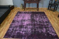 Vintage Teppich Handgeknüpft Kurzflor modern Design Patchwork ca 200x230cm #2003
