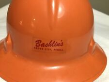Vintage Jackson Hard Hat Orange Fiberglass - Jackson Products Safety Cap USA