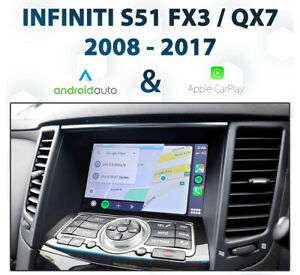 Infiniti S51 FX30 / QX70 2009 - 2017 Android Auto & Apple CarPlay Integration