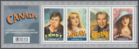 Canada - #2153  Canadians in Hollywood Souvenir Sheet - MNH