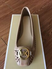 NIB $120 Michael Kors Fulton Moc Woven Leather Moccasin Dark Khaki Size 9M