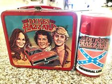 VINTAGE 1980 THE DUKES OF HAZZARD ALADDIN LUNCH BOX W/ THERMOS / NICE SHAPE!