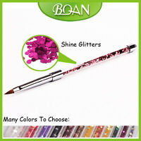1Pc Nail Painting Kolinsky Oval Nail Brush Nail Art Flower Drawing Brush 4#