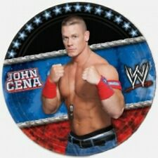 WWE HAPPY BIRTHDAY party supplies dessert CAKE PAPER PLATES 8pc wrestling Cena