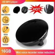 More details for spy mini voice activated recorder digital audio brooch mp3 player 16gb bug uk