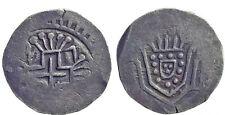 Indo Portuguese DIU Peter II obv Crown arms Rev Designed Silver Silver Xerafim