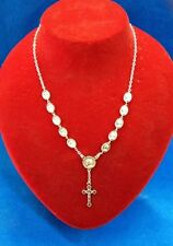 St John Paul II & Divine Mercy Necklace Rosary-Blessed by Pope on request-ITALY