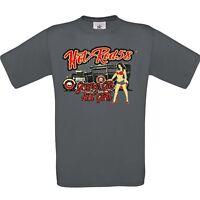 Mens Hotrod 58 Hot Rod T Shirt Rat Rod Grease Gas Girls V8 Muscle Car Garage