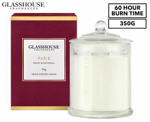 Glasshouse Fragrances Paris Triple Scented Candle 350g - Paris - 60hr Burn Time