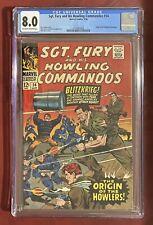 Sgt. Fury and His Howling Commandos #34 (1966) CGC 8.0 [Origin Story]