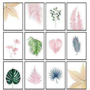 Botanical Prints Tropical Plant Wall Art Leaf Prints Bedroom Wall Art - Unframed