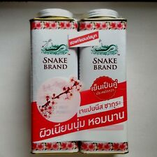 2x280 G. Snake Brand Japanese Sakura Prickly Heat Cooling Powder Soft & Smooth