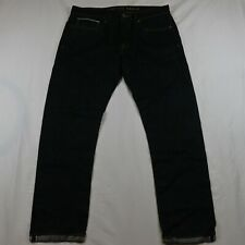 American Eagle 34 x 32 Slim Dark Rinse Selvedge Denim Jeans