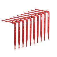 Transparent Elbow Arrow Dripper Bending Drop Emitter Garden Irrigation 25pcs//set
