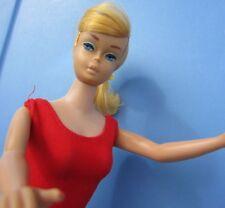 Vintage Barbie Doll Swirl Ponytail 1965 Lemon Blonde American Girl Face