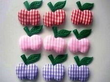 60 Padded Gingham Fabric Apple Applique/Sewing/Sew on/Craft/trim/bow L34