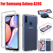 For Samsung Galaxy A20S Shockproof Crystal Armor Clear Case Bumper Soft Cover