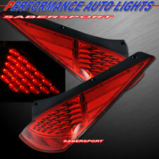 Set of Pair Red Lens LED Taillights for 2003-2005 Nissan 350Z Z33 Fairlady