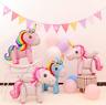 3D GIANT UNICORN 116cm Standing Foil Balloon Birthday Party Girls Fantasy UK