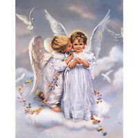 EE_ EG_ Cute Angel 5D DIY Diamond Embroidery Painting Cross Stitch Home Wall Dec